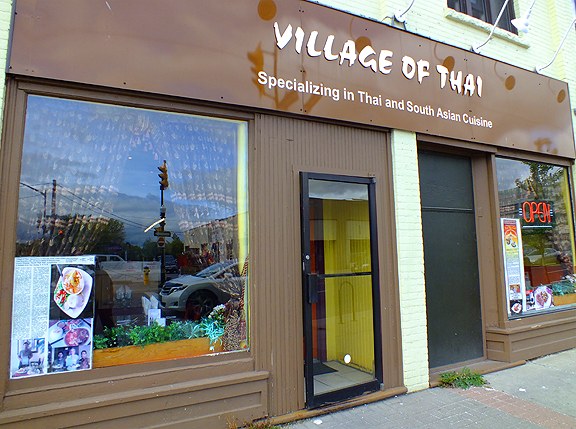 village of thai front of restaurant